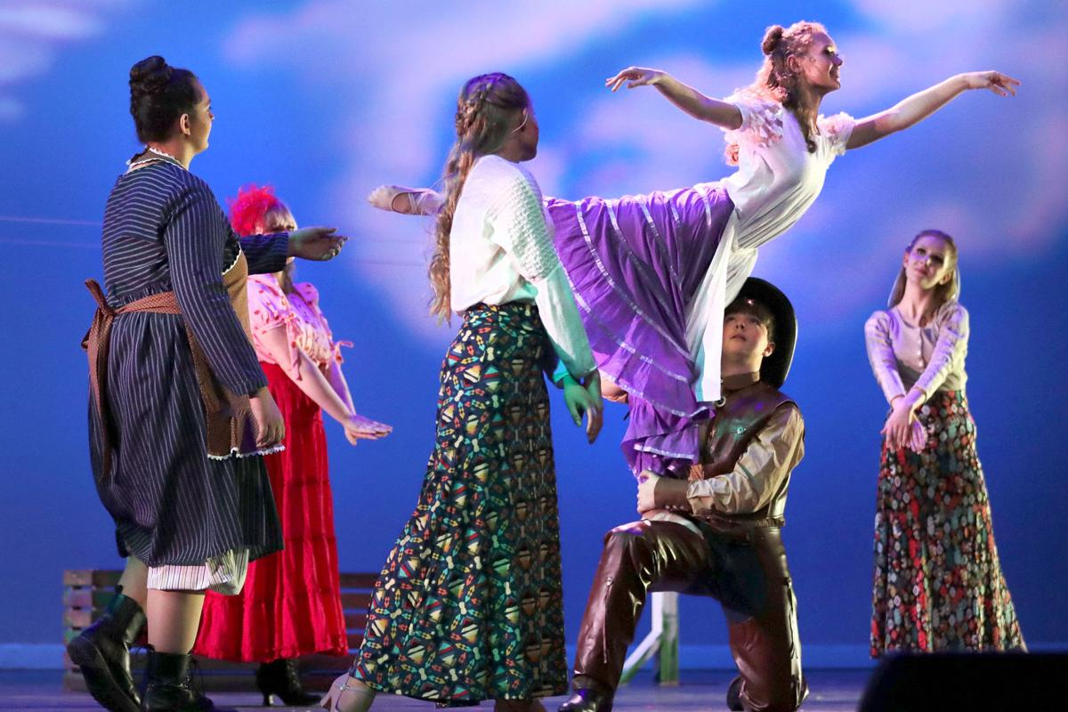 """Dance scene from """"Oklahoma!"""" at Parker High School"""