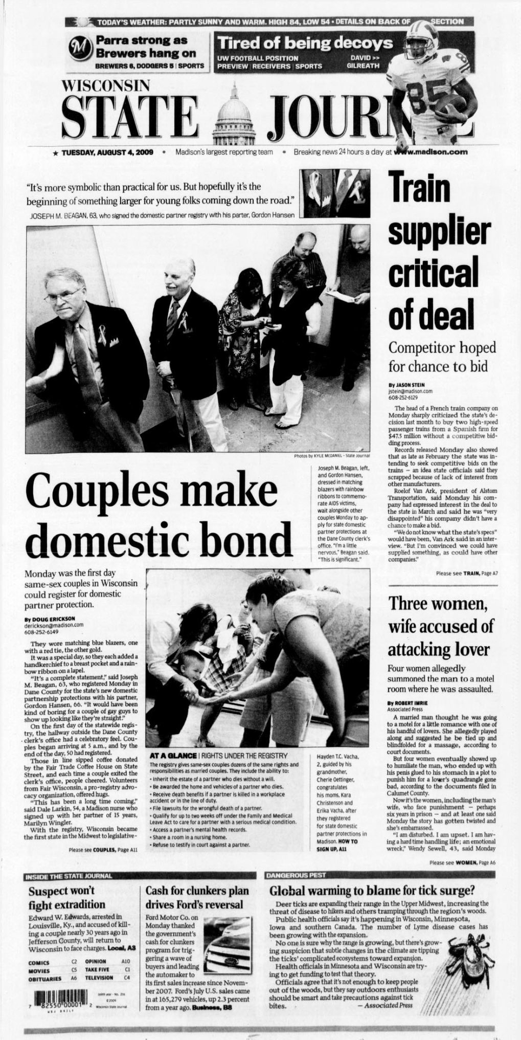 From the Archives: Front Pages, Aug  4 | Local News