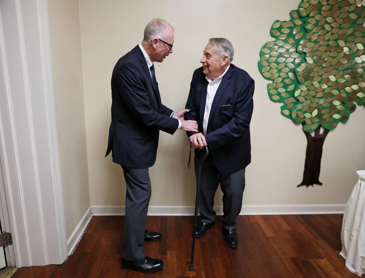 Martin Schreiber with Sun Prairie mayor