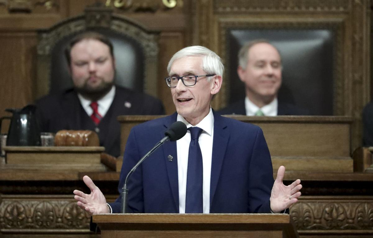 Tony Evers, State of State, State Journal generic file photo