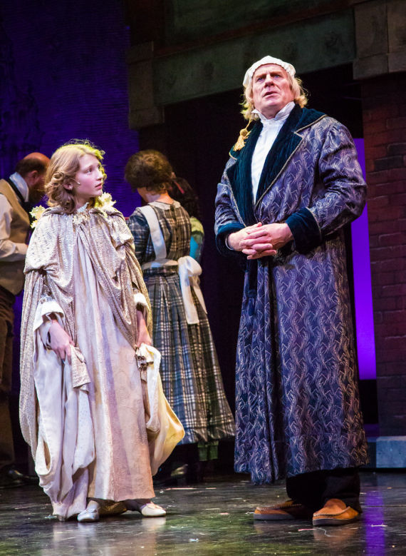 Julia Amann and John Pribyl in A Christmas Carol, CTM