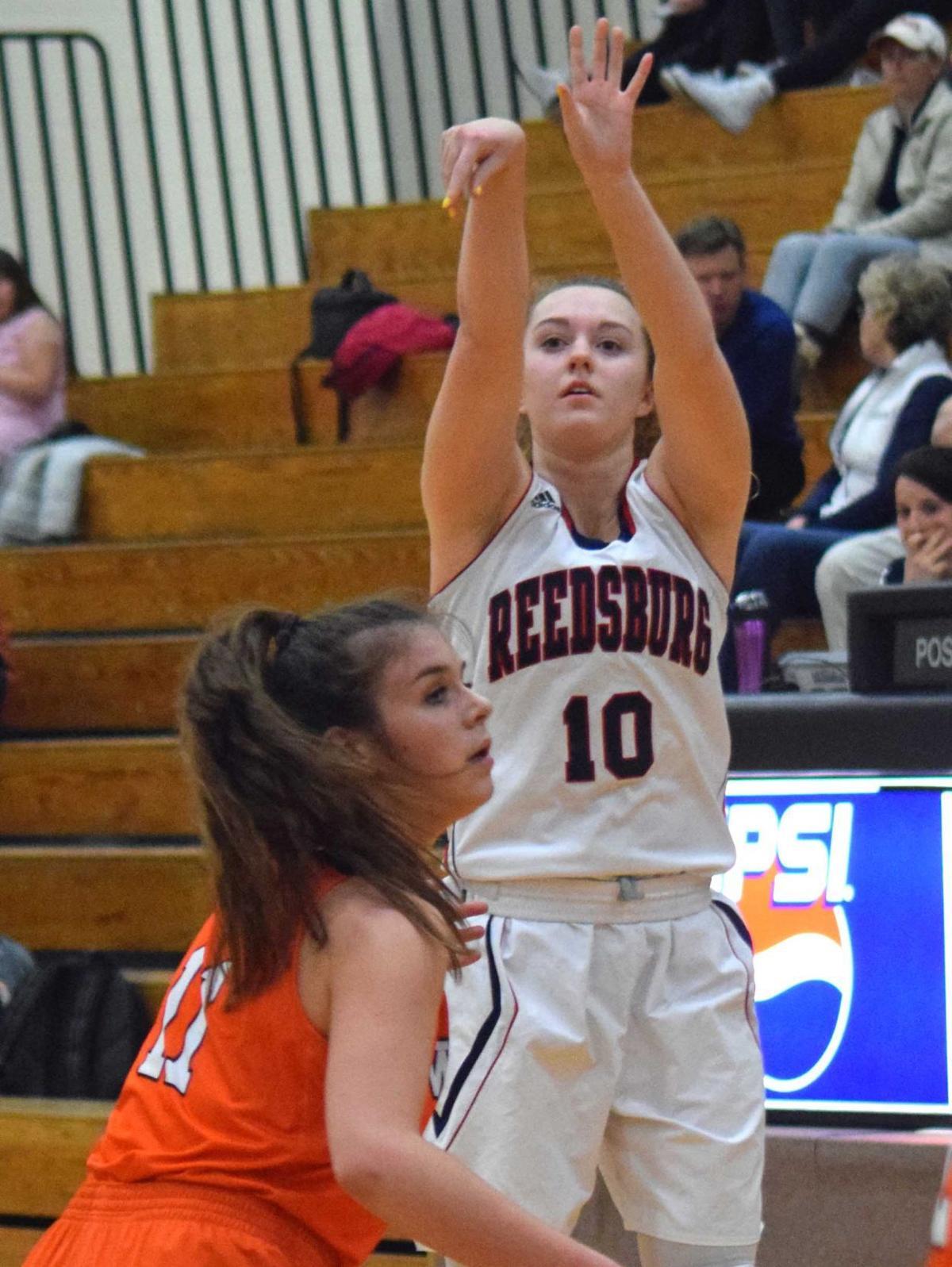 Prep girls basketball photo: Reedsburg's Julia Korklewski