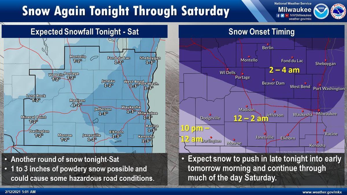 Snow Fri-Sat by National Weather Service