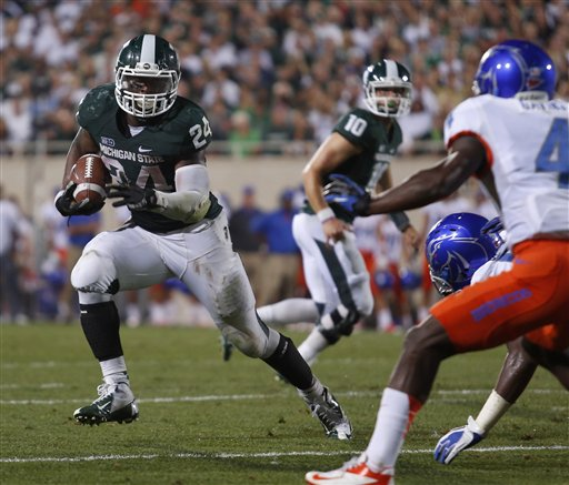 College Football Le Veon Bell Outgains Entire Boise State Team As Michigan State Rallies College Football Madison Com