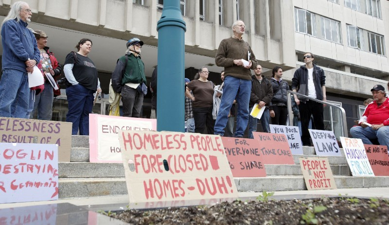 Occupy Madison protest at City-County building 4/30/12