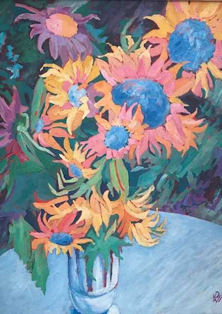 Blue Diamond Sunflowers, David Scheifel