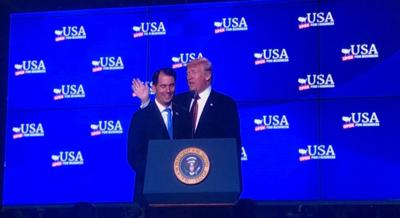 Walker and Trump at Foxconn