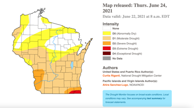 Drought conditions map June 24