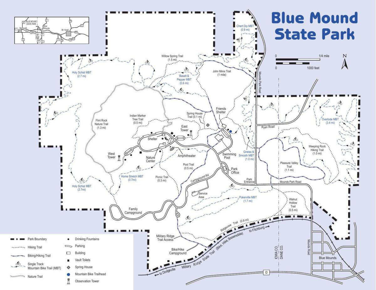 Trails in Blue Mound State Park