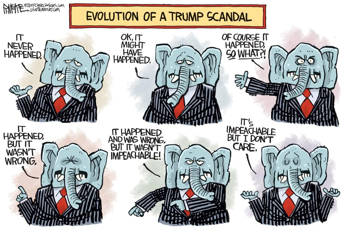 Republicans Defense Of Trump Evolves In Rick Mckee S Latest Political Cartoon Opinion Cartoon Madison Com