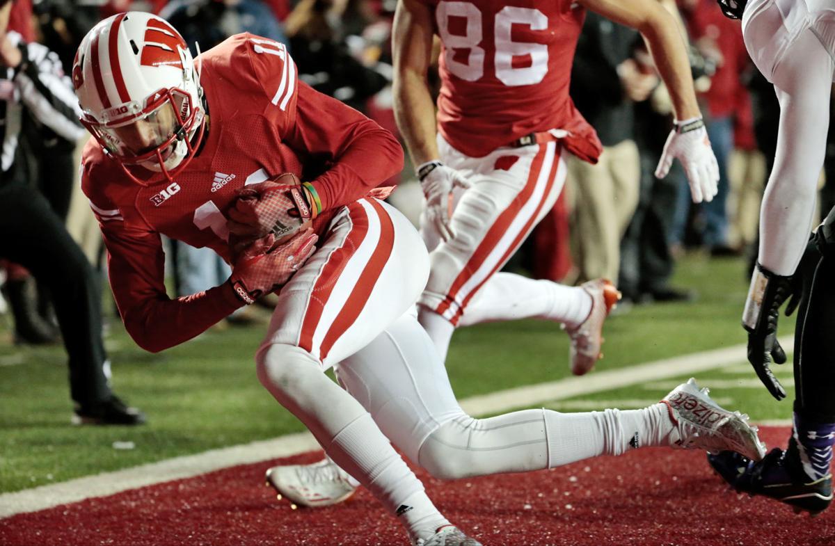 Jazz Peavy's non-touchdown against Northwestern, State Journal photo