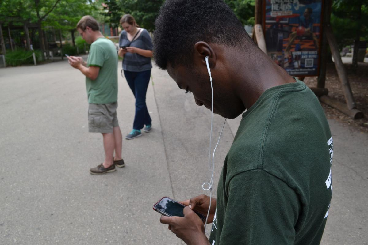 Image Meets Reality At Henry Vilas Zoo >> One Week After Launch Pokemon Go Hasn T Loosened Its Grip On