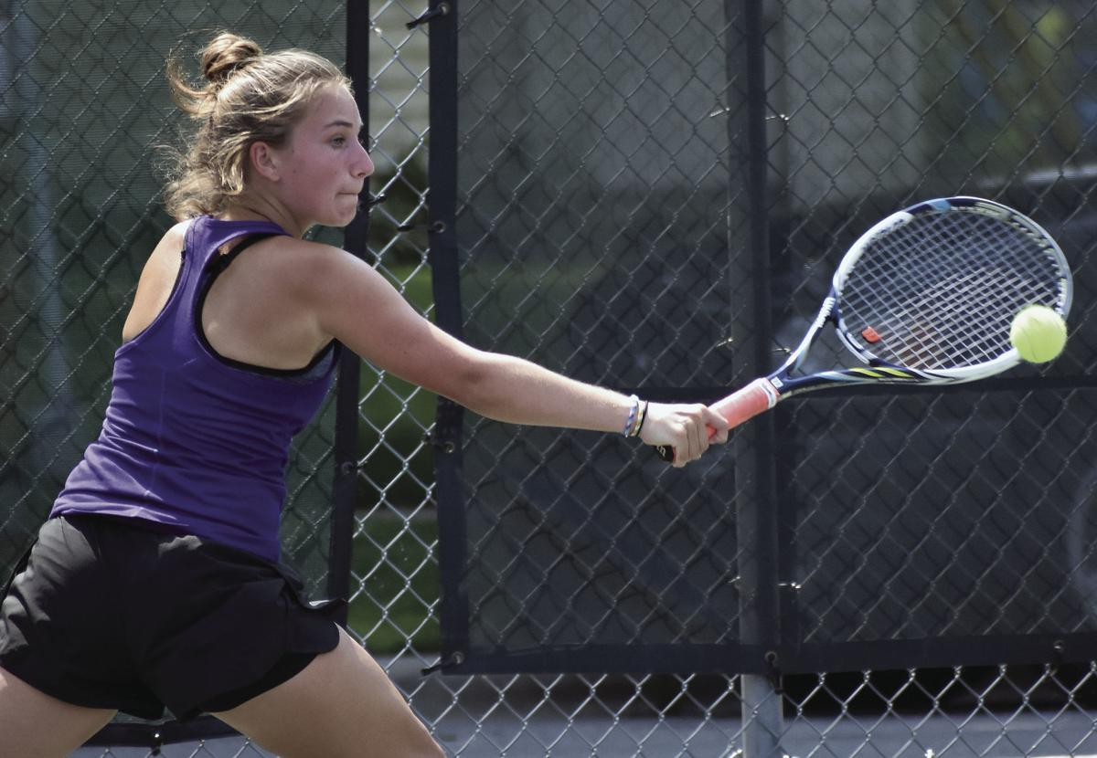 Prep girls tennis photo: DeForest No. 1 singles player Cecile Fuchs