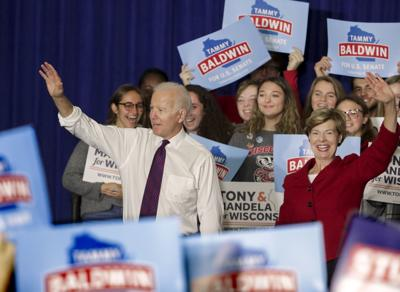 Former Vice President Joe Biden campaigned Tuesday in Madison