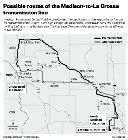 Possible transmission line routes