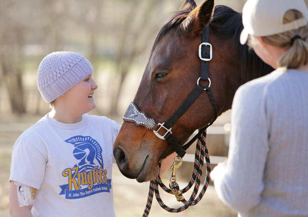 Makena with Lacey, the horse