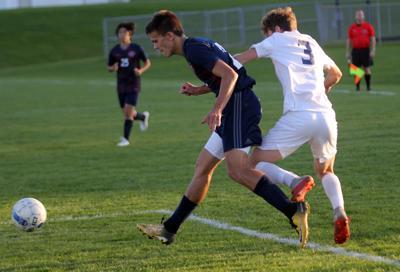 Prep boys soccer photo: Reedsburg's Will Fuhrmann makes a pass