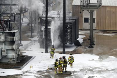Substation explosion and fire