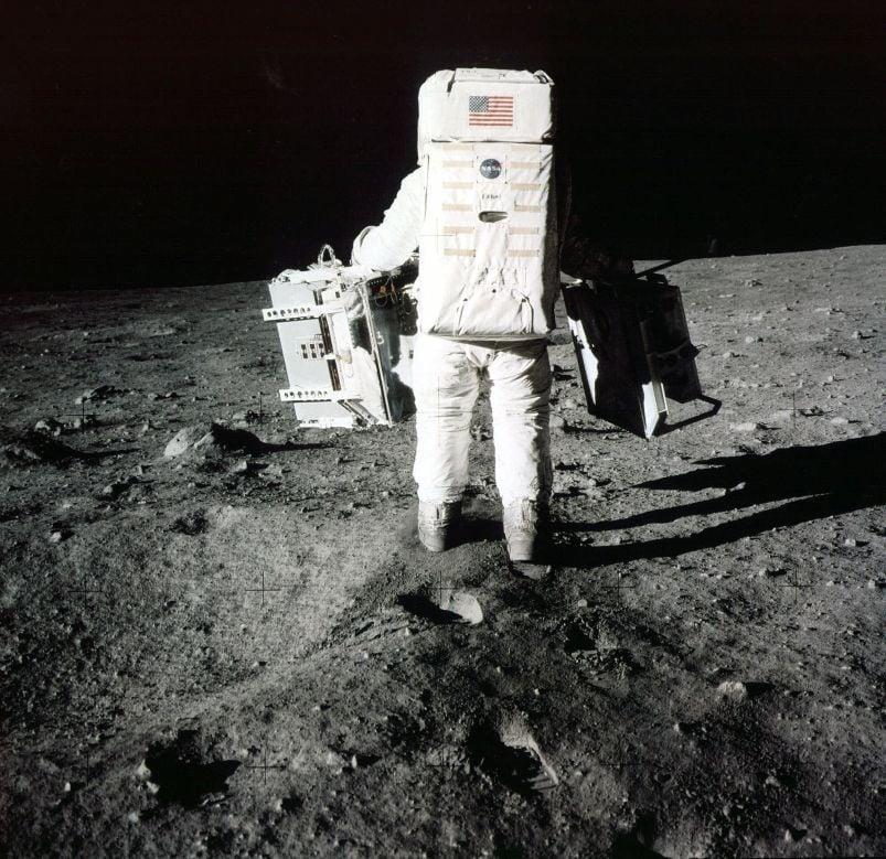 Moon landing file photo