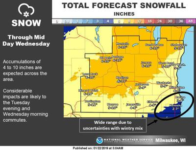 National Weather Service Snow Forecast