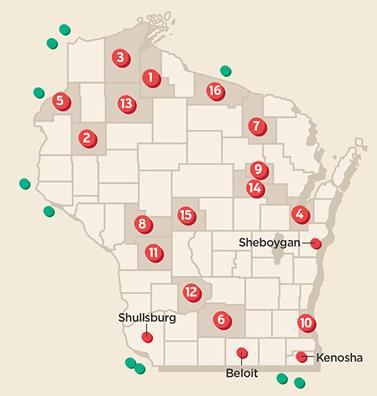 Wisconsin Casinos Map indian casinos in wisconsin | | madison.com Wisconsin Casinos Map