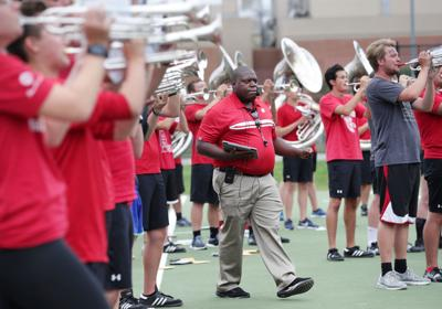 UW Marching Band director Corey Pompey