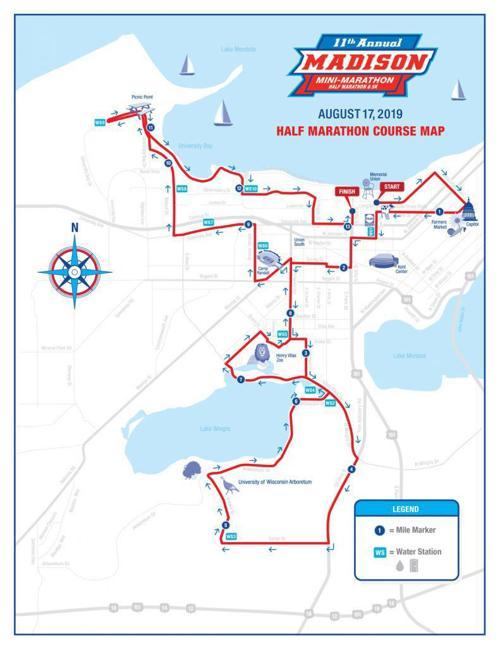 Madison Mini Marathon route