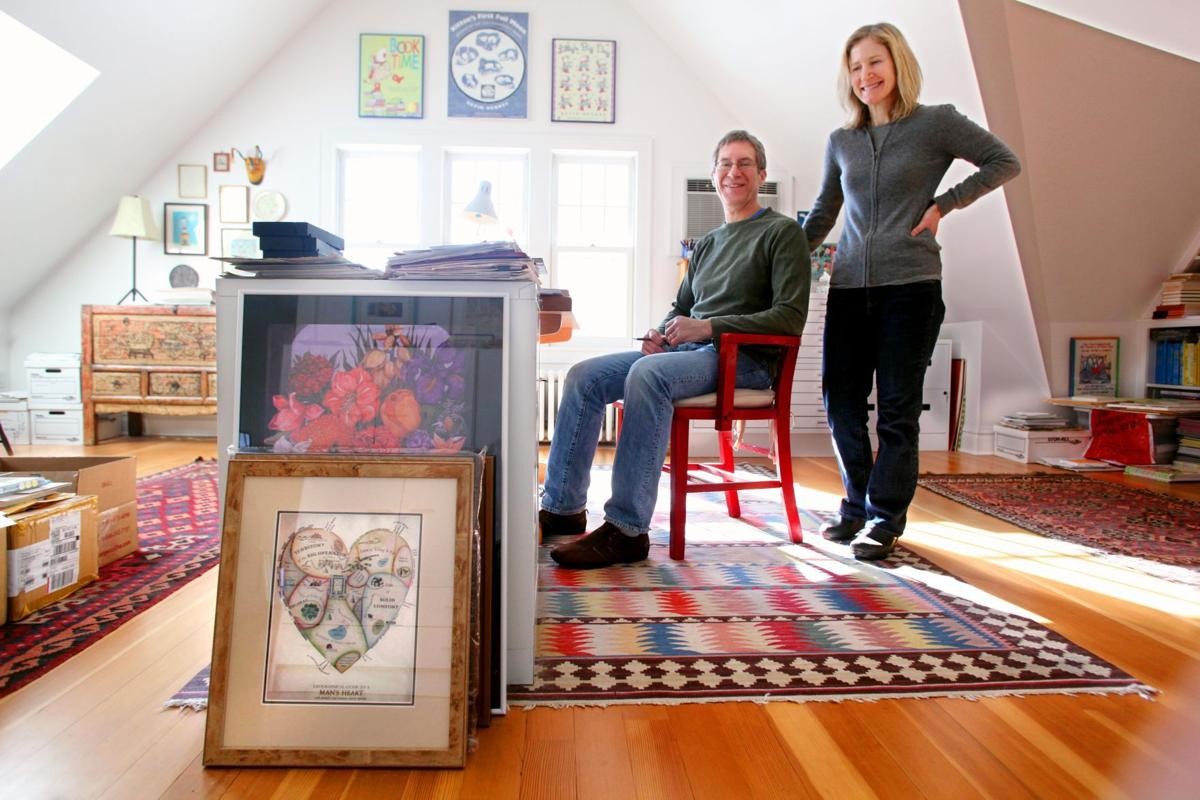 Kevin Henkes and Laura Dronzek at home in Madison
