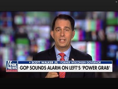 Scott Walker unconvincing as national spokesman for gerrymandering