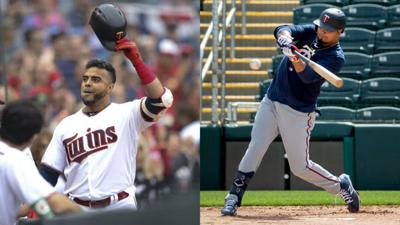 A short season means fewer games to reach personal milestones for 40-year-old Nelson Cruz (left), but a smaller sample size in which to hit for a high average for a line-drive hitter such as Luis Arraez.