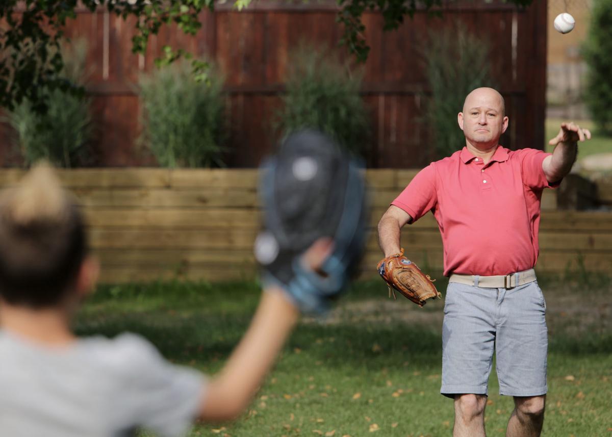 Bill Yerges playing baseball