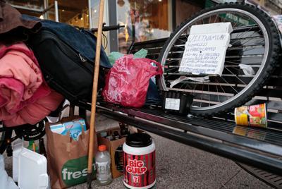 Homeless possessions