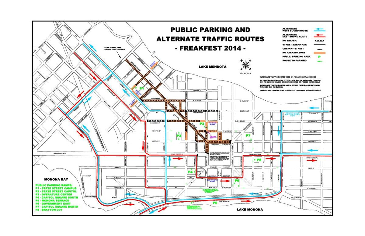2014 Freakfest Map: Traffic and Parking | Maps | madison.com