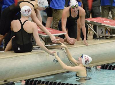 WIAA girls swimming photo: Madison Edgewood 400 freestyle