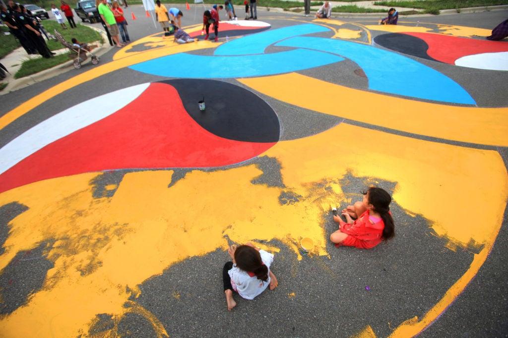 pavement painting