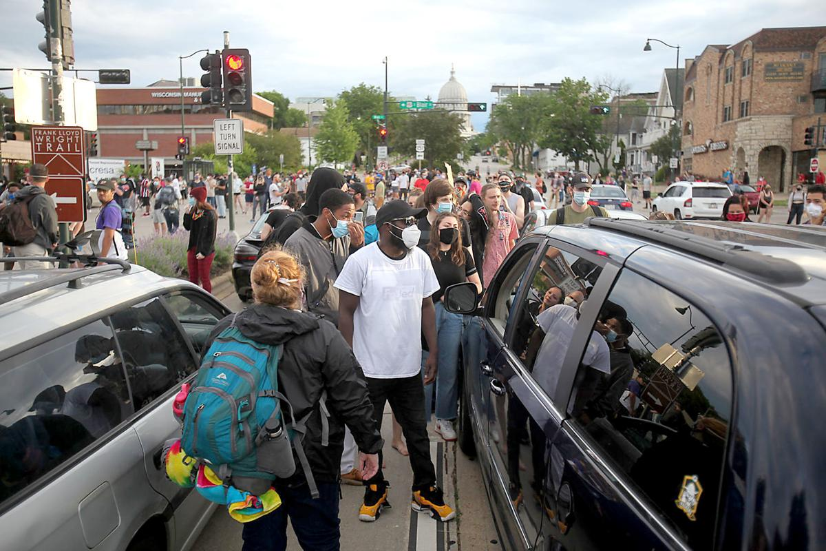 Don T Drive Into People Clashes Between Madison Protesters Drivers Result In Injuries Crime Madison Com