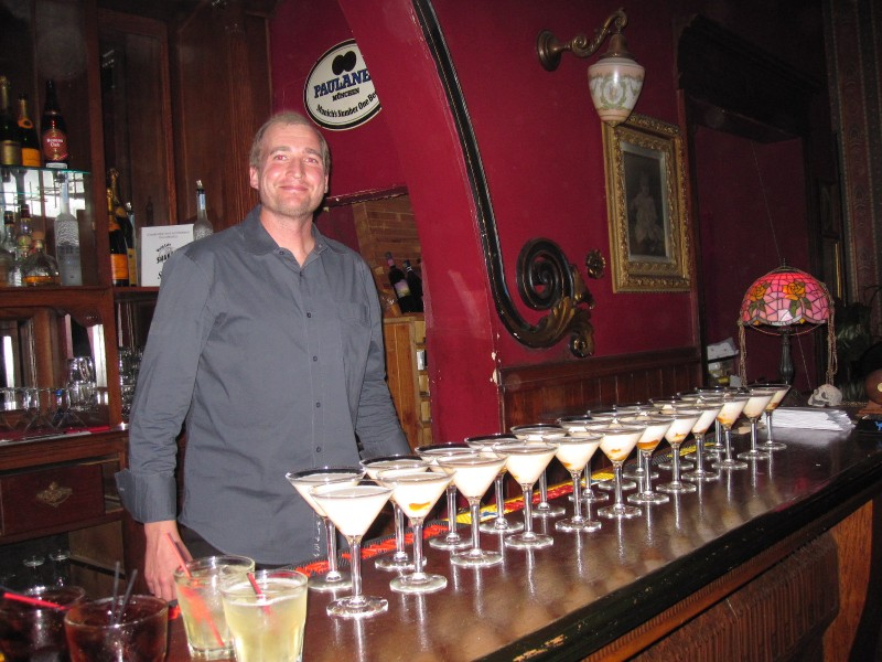 Shaker's Cigar Bar pumpkin martinis