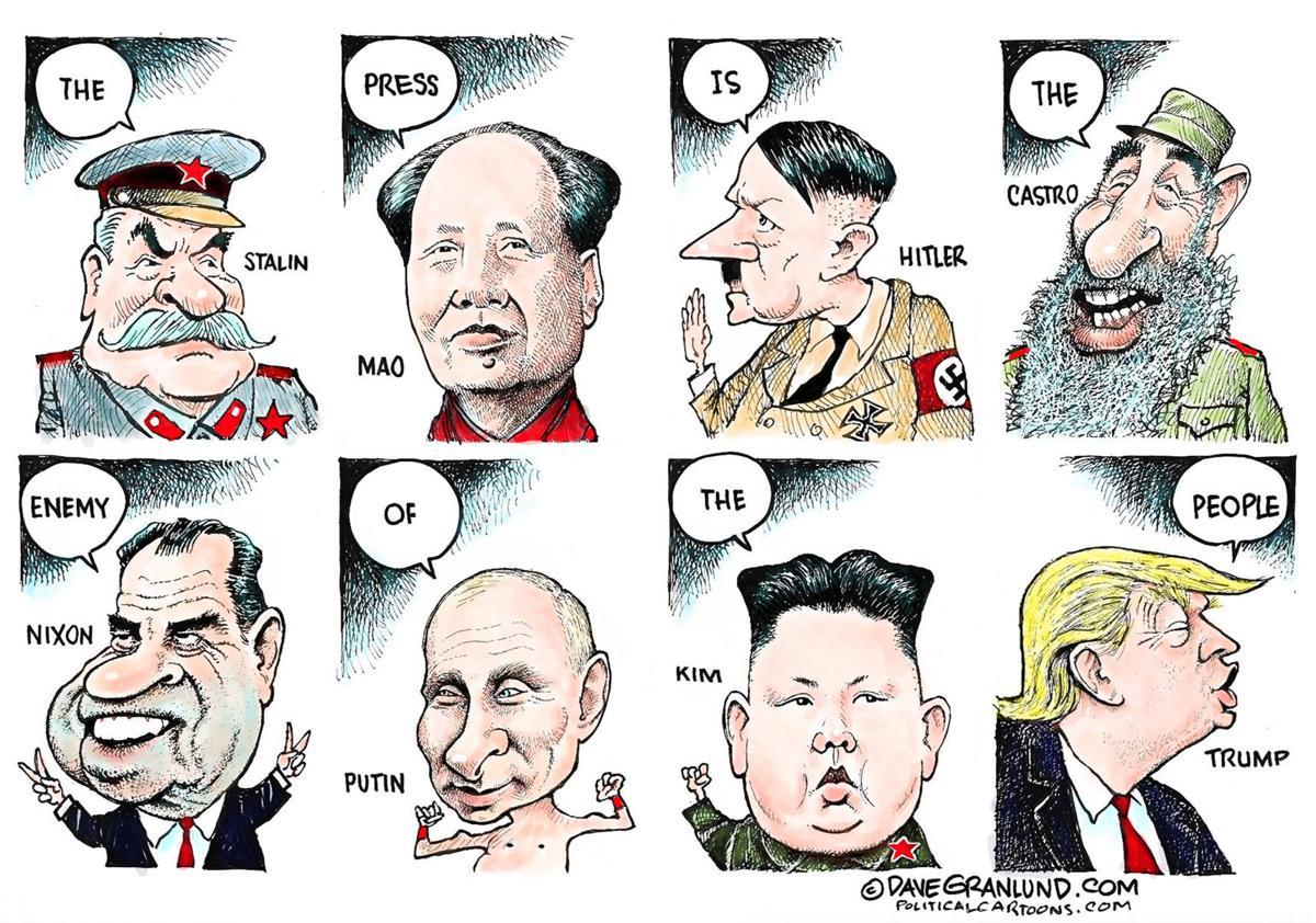 trump u0026 39 s  u0026 39 enemy of the people u0026 39  line sounds familiar  in dave granlund u0026 39 s latest political cartoon