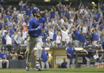 Kris Bryant game-winning homer, AP photo