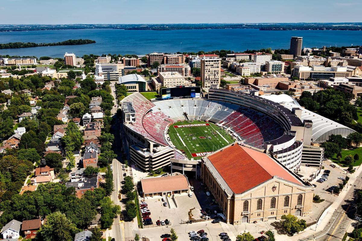 madison wisconsin stock image file photo camp randall aerial