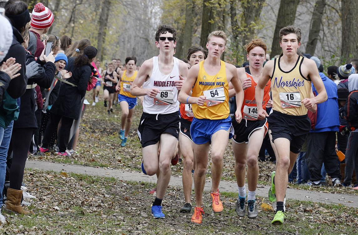 Prep boys cross country photo: Division 1 boys sectional competitors do battle