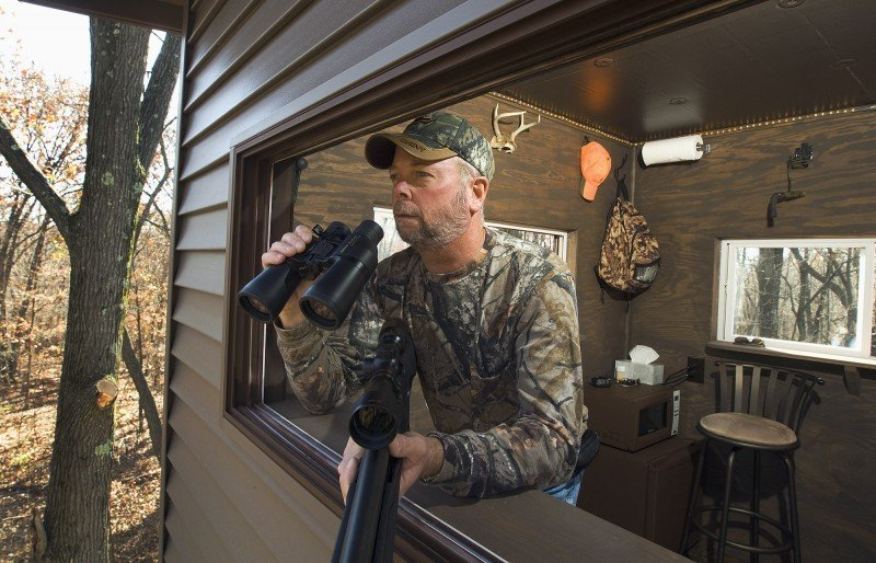No roughing it in his custom-built deer stand | Outdoors