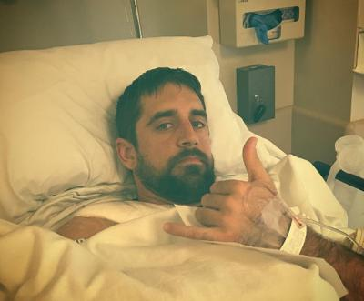 Aaron Rodgers Instagram post photo after collarbone surgery