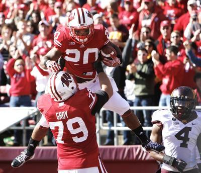 James White, Ryan Groy, Badgers football vs. Minnesota