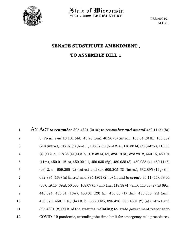 Senate COVID Amendment