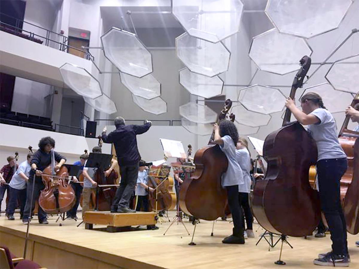 Bass Conference performance in Mills Hall