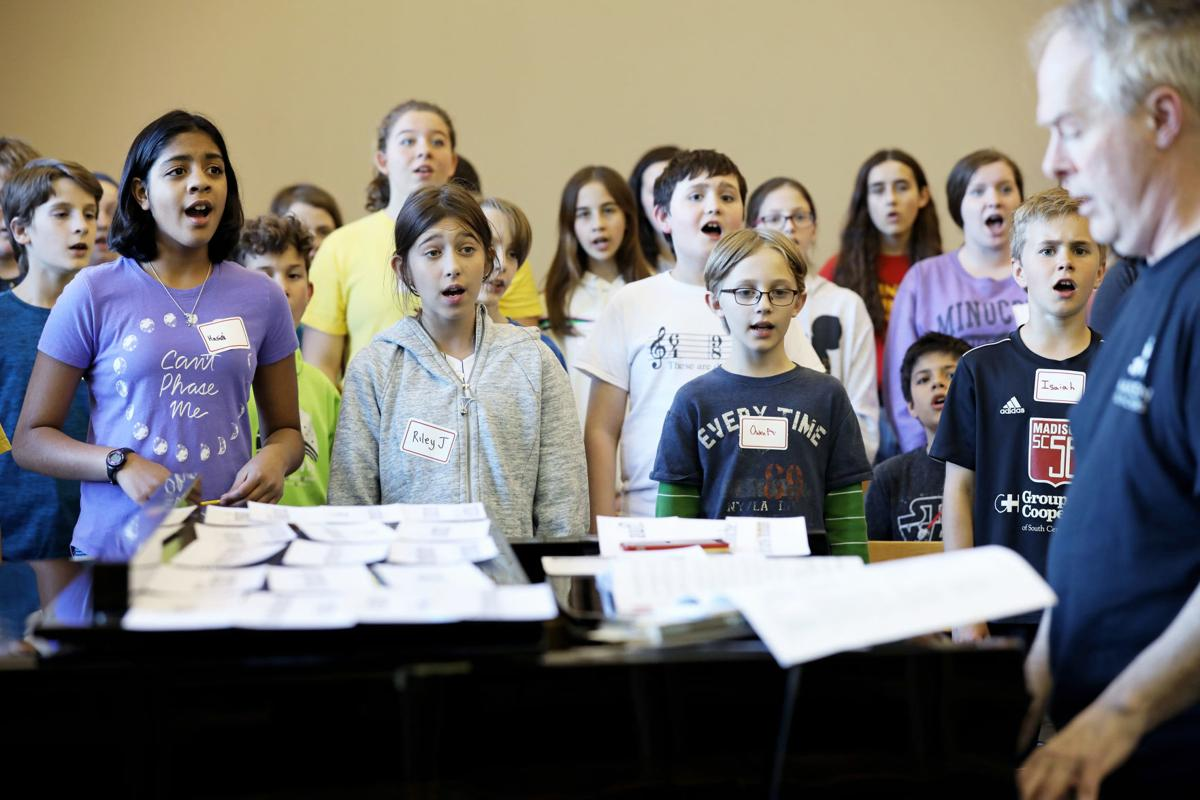 "Madison Youth Choir rehearsal for ""Symphony of a Thousand"""