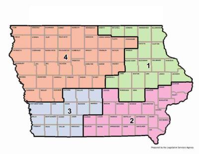Iowa congressional district map