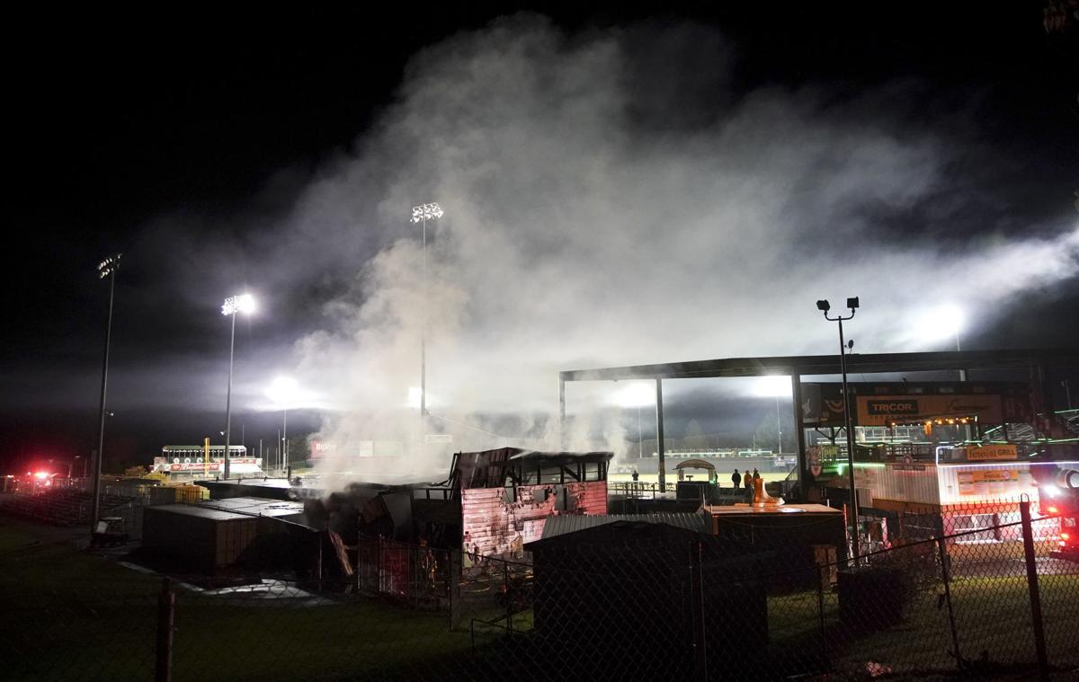Madison Mallards Pro Shop fire 1