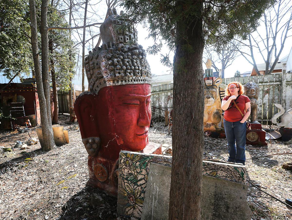 Buddha sculpture by Sid Boyum in 2016